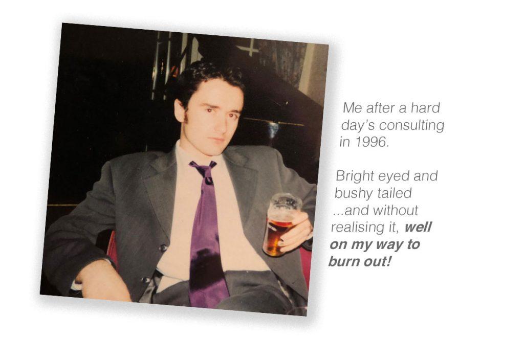 Ed Rivis circa 1996 - burnout impending!